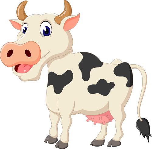 Cartoon baby cow vector illustration 01