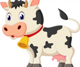 Cartoon baby cow vector illustration 02