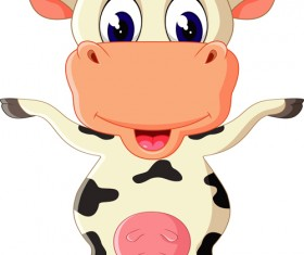 Cartoon baby cow vector illustration 03