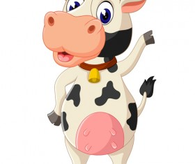 Cartoon baby cow vector illustration 04