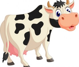 Cartoon baby cow vector illustration 05