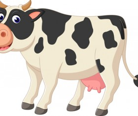 Cartoon baby cow vector illustration 06