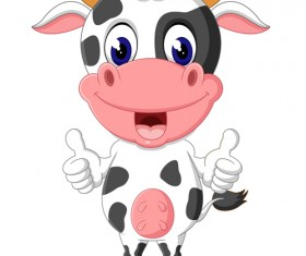 Cartoon baby cow vector illustration 08