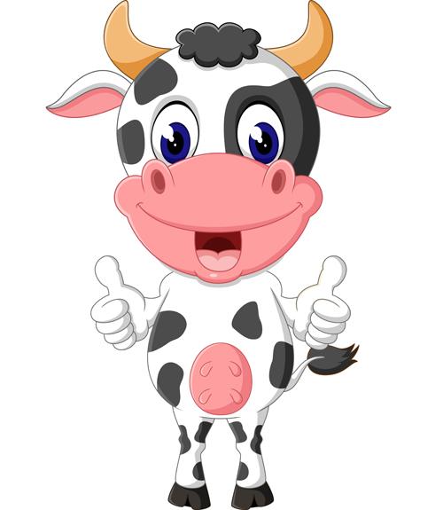 Cartoon baby cow vector illustration 08