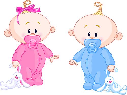 Cartoon cute baby vector illustration 07 free download