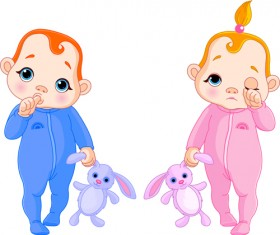 Cartoon cute baby vector illustration 08