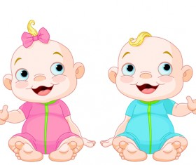 Cartoon cute baby vector illustration 09