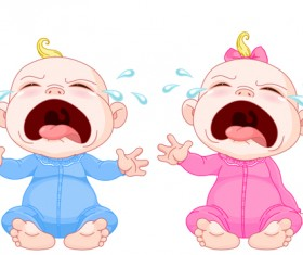 Cartoon cute baby vector illustration 10
