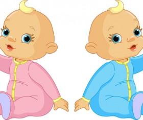 Cartoon cute baby vector illustration 11