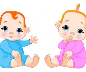 Cartoon cute baby vector illustration 13