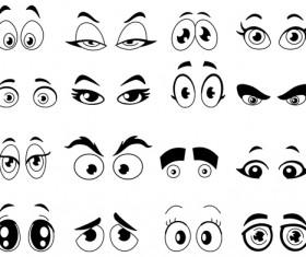 Cartoon eyes silhouetter vector