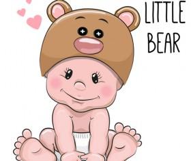 Cartoon little baby vector material 02