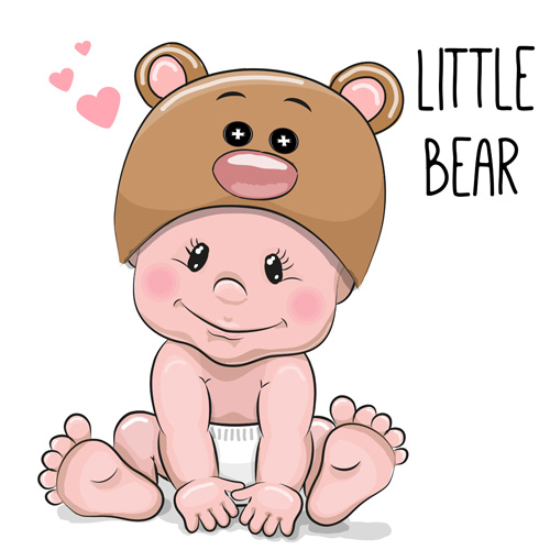baby vector material 02 download name cartoon little baby vector