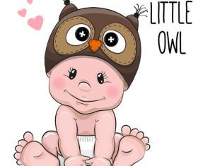 Cartoon little baby vector material 04