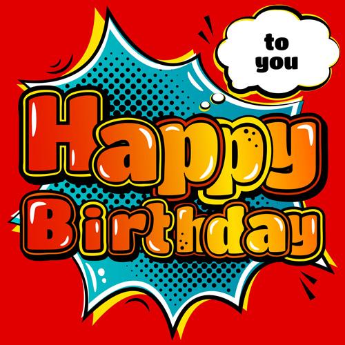 Cartoon styles happy birthday design vector 02 - Vector Background ...
