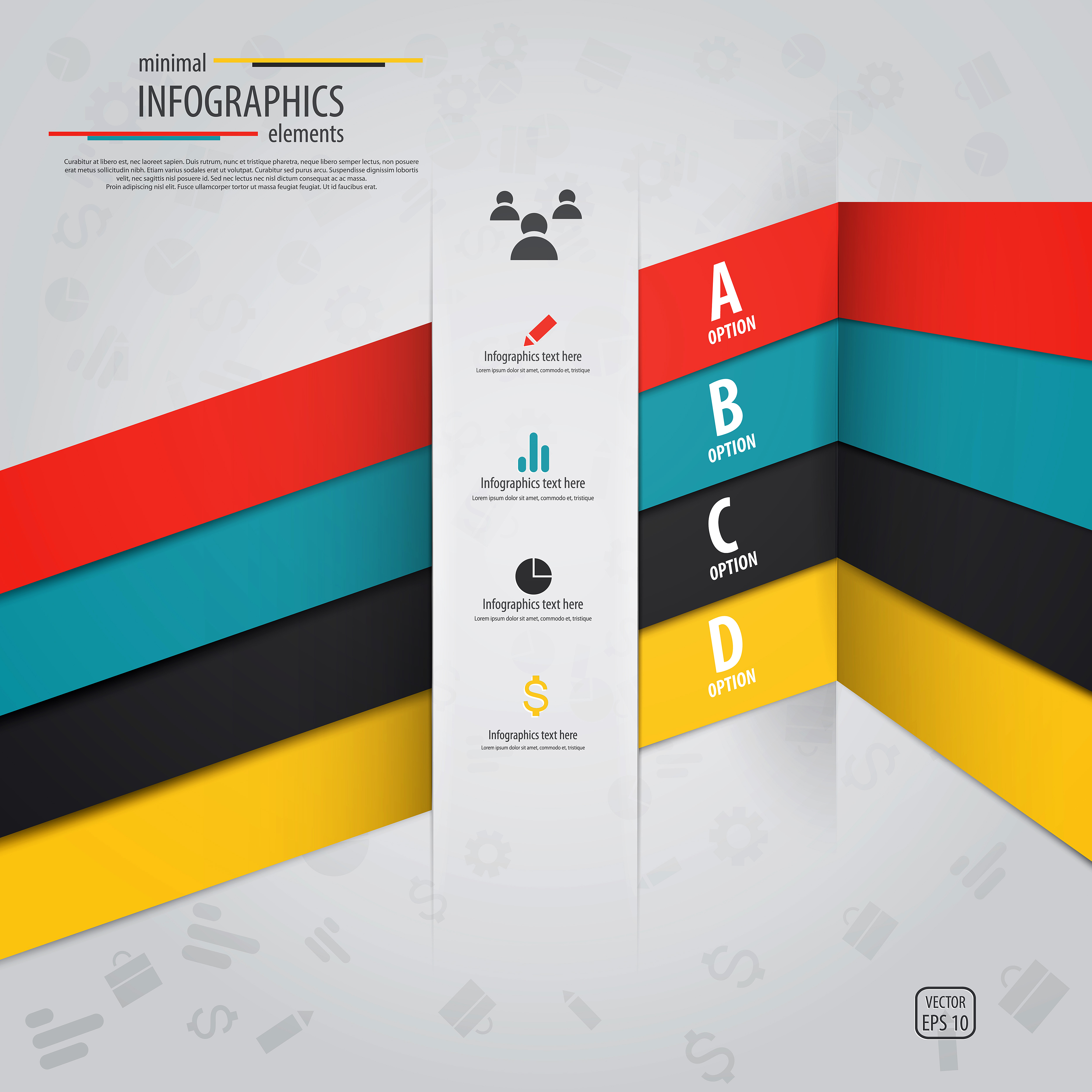 Colored Banners Infographic Vectors 05 Vector Banner