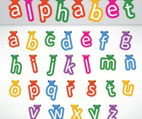 Colored bookmarks with alphabet vector
