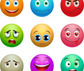 Colored emoticons Icons set