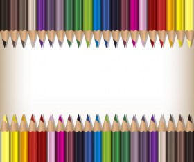 Colorful pencils backgrounds vector set 02