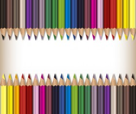 Colorful pencils backgrounds vector set 06