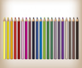 Colorful pencils backgrounds vector set 08