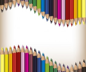 Colorful pencils backgrounds vector set 10