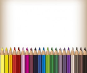 Colorful pencils backgrounds vector set 11