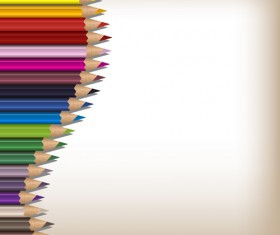 Colorful pencils backgrounds vector set 12