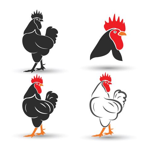 Creative chicken logos vector design 03 - Vector Animal, Vector ...