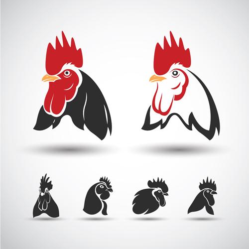 Creative chicken logos vector design 07 - Vector Animal, Vector ...