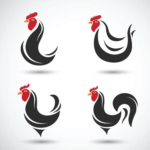 Creative chicken logos vector design 09 - Vector Animal, Vector ...