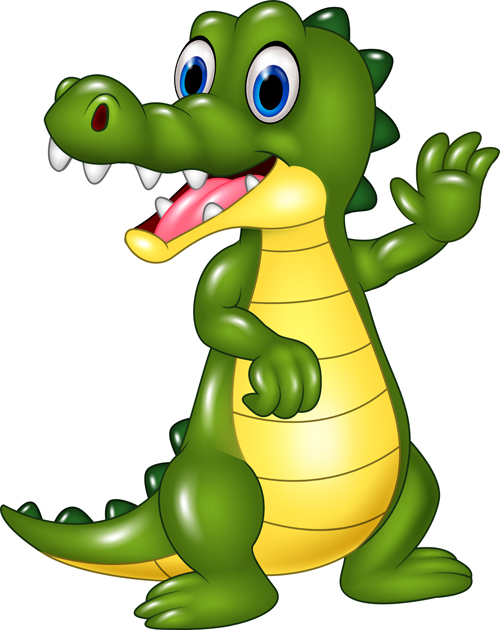 Cute cartoon crocodile vector - Vector Animal free download