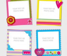 Cute photo frame vector set 01