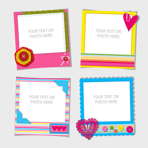 578fe7e8ae4 Cute photo frame vector set 01 free download
