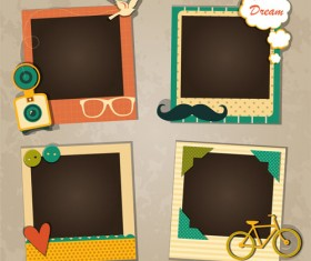 Cute photo frame vector set 02