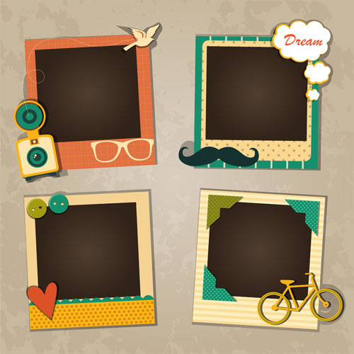 cute photo frame vector set 02 free download. Black Bedroom Furniture Sets. Home Design Ideas