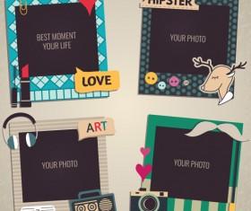 Cute photo frame vector set 03