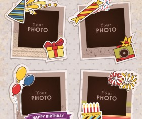 Cute photo frame vector set 04
