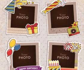 Cute photo frame vector set 04