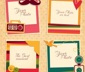 Cute photo frame vector set 05