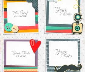 Cute photo frame vector set 06