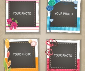 Cute photo frame vector set 07