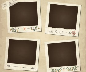 Cute photo frame vector set 08