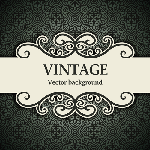 Decor pattern with vintage background vector 01 free download