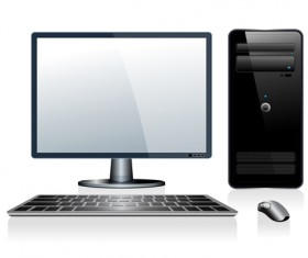 Desktop PC design vectors 02