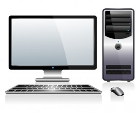Desktop PC design vectors 04
