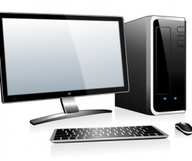 Desktop PC design vectors 05