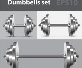Dumbbell vector design illustration 01
