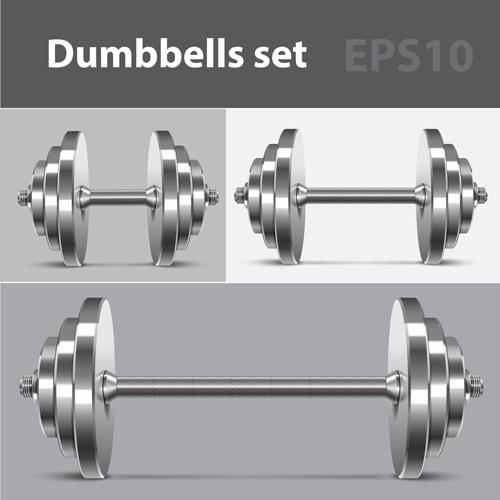 Dumbbell vector design illustration 01