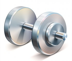 Dumbbell vector design illustration 03